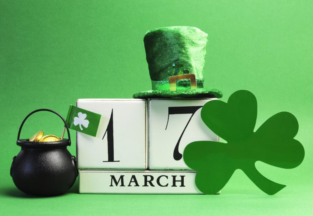 green calendar with march 17 dated on it